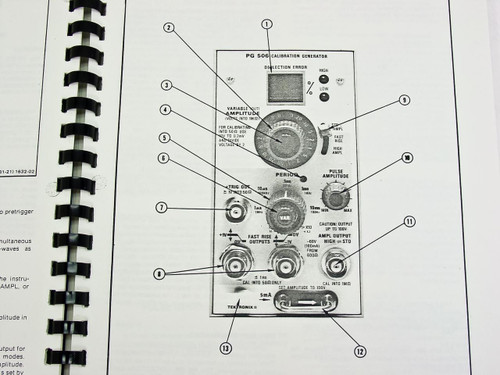 Tektronix PG 506 Calibration Generator Instruction Manual