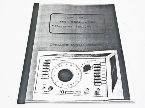 Krohn-Hite Corporation 4200A  Operating & Maintenance Manual