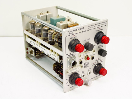 Tektronix  Type Q Plug-in Unit   Transducer And Strain Gage Preamp