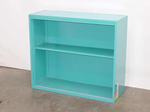 """Blue Steel 36""""w x 31""""h x 13"""" d  Display Metal Cabinet - No Glass"""