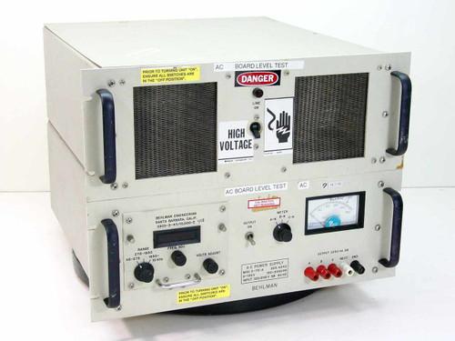 Behlman 3-75-A  2.25 KVA 3PH AC Power Supply 150 to 2000 Hz Variab