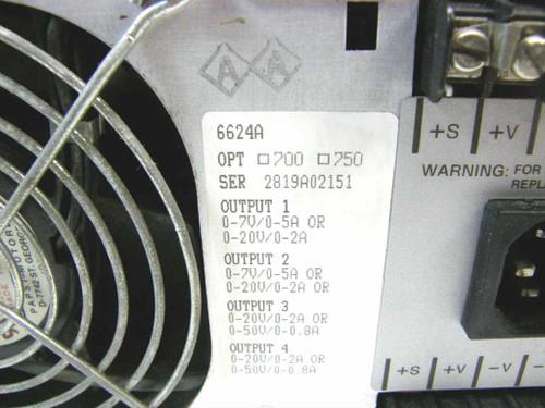Agilent / HP 6624A  Rackmount DC Power Supply 40 Watts, 4 Output