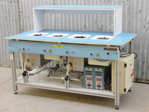 Crest Ultrasonics 4HT-710-3  Ultrasonic Cleaner Wet Bench System