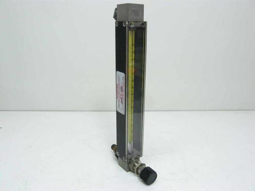 Flow Gauge / Meter 0-150  Adjustable Flow Rate Gas Meter with Enclosure