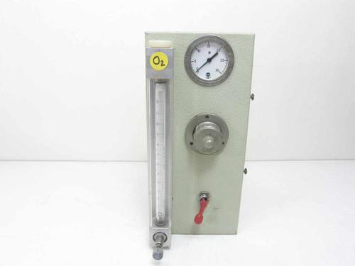 Fisher & Porter FP-1/4-10-G-6  Regulated Flow Meter w/Pressure Gauge