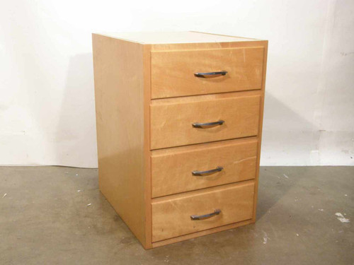 Medical Cabinet Wooden  4 Drawer Supply Cabinet 18x22x27