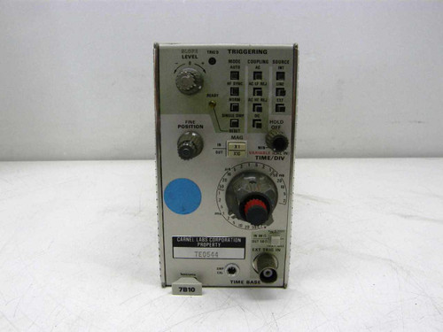 Tektronix 7B10  Time Base - Triggering Oscilloscope Plug-In