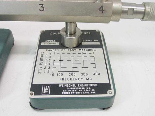 Weinschel Engineering DS-109H  Double Stub Tuner 40-400MHz