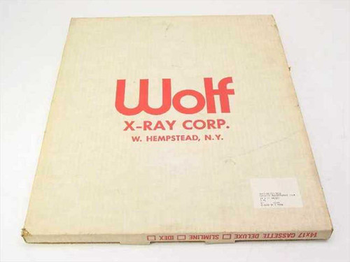 Wolf X-Ray  14x17  Cassette Radiographic Film Dec. 12, 1984