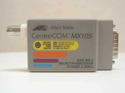 Allied Telesis CentreCom IEEE 802.3 Micro Transceiver 10 Base 2 (AT-MX10S)