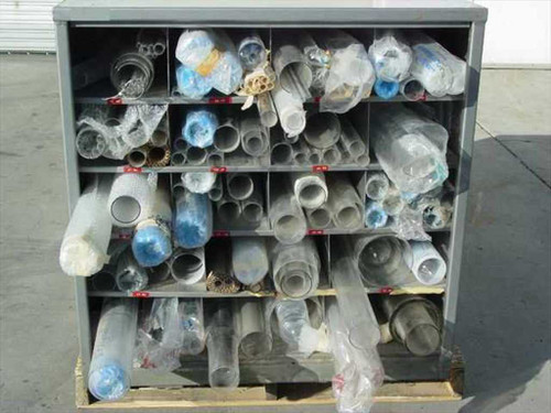 Scientific Glass Blowers  Glass - 4 Foot Lengths - Entire Lathe Stock (2)