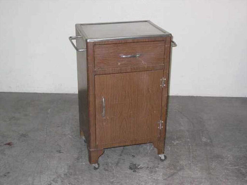 """Laboratory 16"""" x 20"""" Work Surface  Rolling Metal Cabinet w/drawer SS Top"""