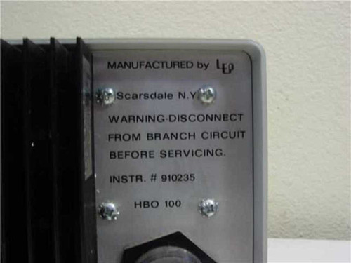 ... Carl Zeiss HBO 100 Stab Arc Lamp Power Supply 100w DC Mercury