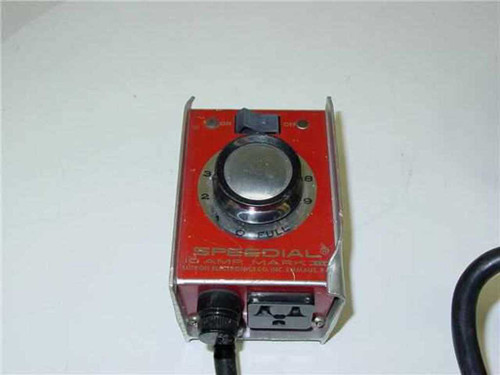 Speedial Mark III  10 Amp motor speed Control 120 v input