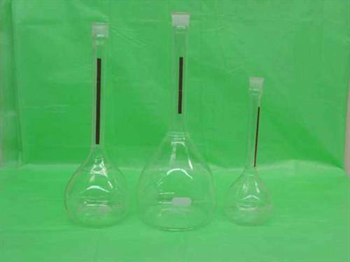 Pyrex / Kimax Flask Set  200ml 500ml Volumetric flasks