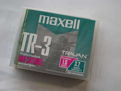 Maxell 1.6/3.2 GB Travan Mini Cartridge (TR-3)
