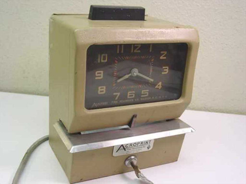 Acroprint 125RR4 BC  Manual Punch Time Recorder