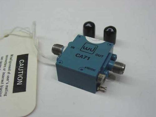 WJ CA71  Amplifier 1MHz to 350MHz 17dB Gain @ 50MHz