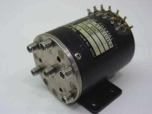 Dynatech/U-Z Inc M5-413E101LT  Switch, RF Coaxial SP5T