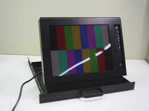 """General Devices RRM-505B  15"""" LCD RackMount Monitor in Slideout Drawer"""