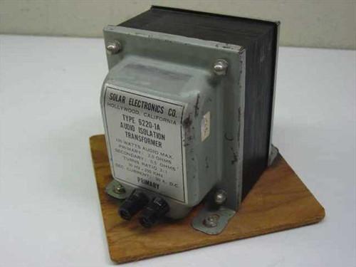 Solar Electronics 6220-1A  EMI Audio Isolation Transformer 100W 30Hz-250kHz