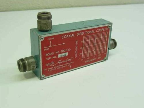 Narda Microwave Corp. 3002-30  Coaxial Directional Coupler 2.0 GHz