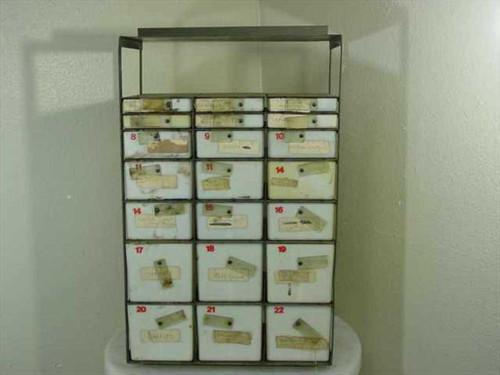 Brenner Metal Products DLA 120-84-C-5045  Medical Instrument & Supply Set Chest Cabinet