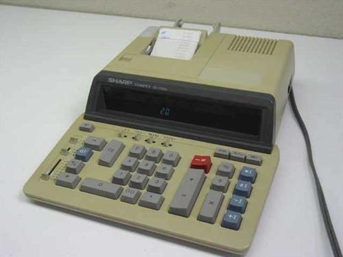 Sharp QS-1760A  Compet Calculator - Yellowed Plastic