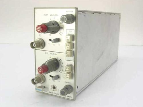 Tektronix Dual Trace Amplifier Oscilloscope Plug-In - Untest (5A38)