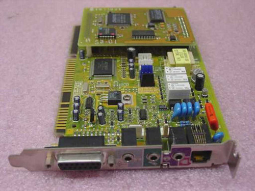 Aztech 138-MMSN855  16 bit ISA Sound/Modem Card w Caystal CS9233 Daugh
