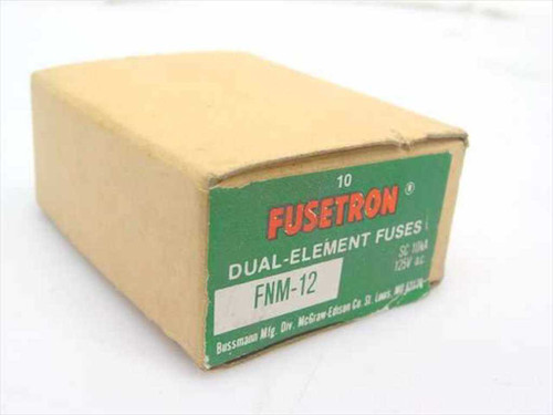 Fusetron FNM-12  125V 12 amp Dual-Element Fuses - 10 per box