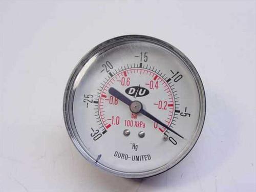 Duro United  Custom  Vacuum Gauge 30 Inch HG 1/4 Npt