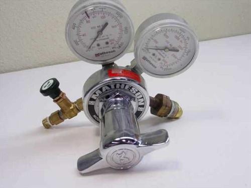Matheson 1H-590  Brass High Pressure Regulator