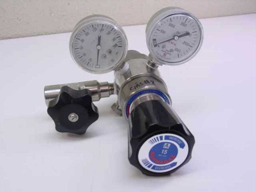 AlphaGaz 44-3460S24-016  Stainless Steel High Pressure Regulator 3500 PSI