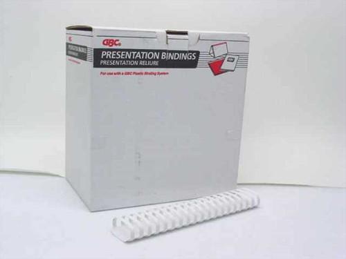 "GBC 4200019  2"" 19 Ring White Presentation Binding Combs - 56 p"