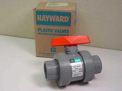 "Hayward LB134  True Union Ball Valve 1 1/2"" CPVC Viton"