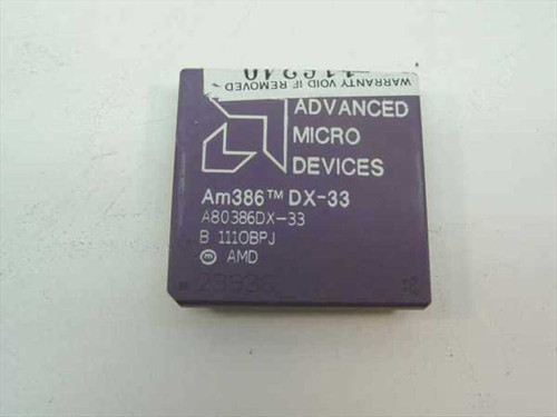 AMD Am386 DX-33 Vintage 386 33 Mhz Processor A80386DX-33