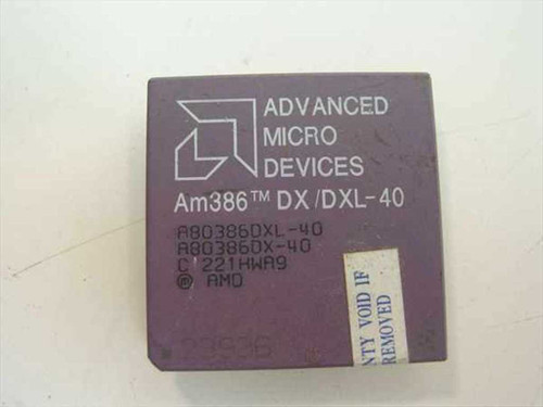 AMD Am386 DX/DXL-40 Vintage 386 40 Mhz Processor A80386DXL-40