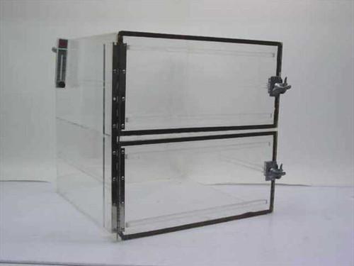 """Dwyer Instruments Dry Box  Acrylic Desiccator w/Flow Meter 16"""" x 16"""" x 16"""""""