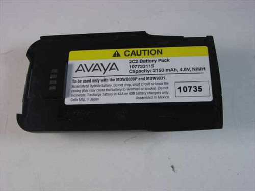 Avaya 107733115  2C2 Battery Pack Capacity 2150 mAh, 4.8V, NiMH