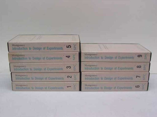 Montgomery, Douglas C. Introduction to Design of Experiments  9 Videotapes based on 2nd ed. of Design and Analys