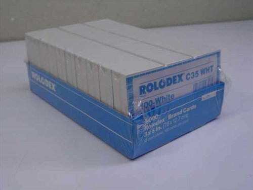 Rolodex C35 White  1000 Pack 3x5 Cards