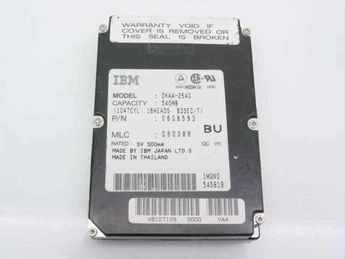 IBM 540MB Laptop Hard Drive - DHAA-2540 06G6593