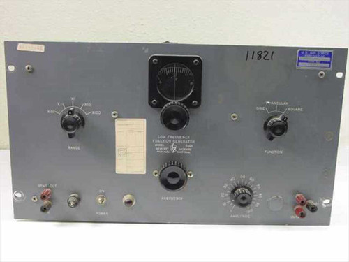 Hewlett Packard 202A  Low Frequency Function Generator 0.008 to 1200 Hz