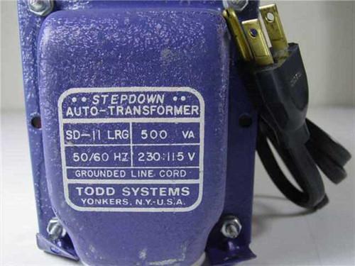 Todd Systems SD-11 LRG  Stepdown Auto Transformer