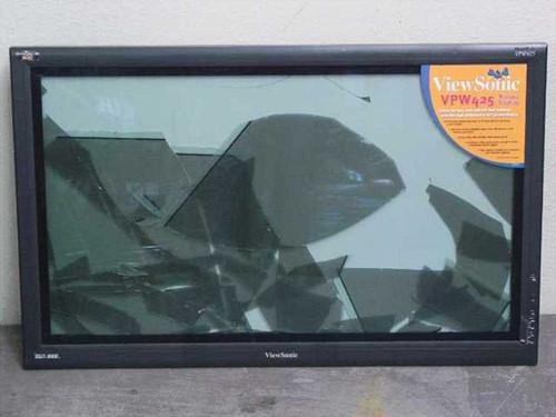 "Viewsonic VPW425  42"" Plasma Flatscreen TV - Broken Screen"