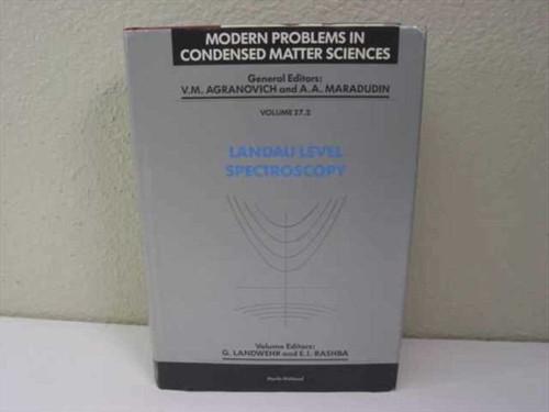Landwehr, G and Rashba, E.I. North Holland Publishing Company   Landau Level Spectroscopy