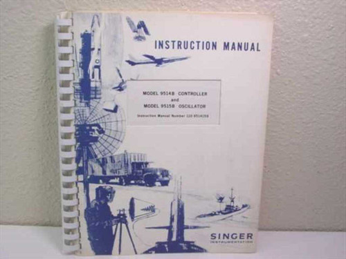 Singer Instrumentation 110-951415B  Instruction Manual for Model 9514B/9515B