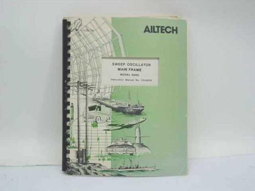 Ailtech 110-6020  Sweep Oscillator Main Frame Model 6600 Instruction