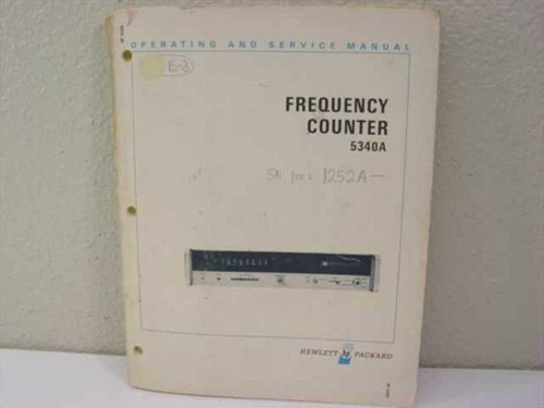 HP Model 5340A  Operating and Service Manual - Frequency Counter M
